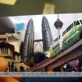 Vé đi monorail với hình của con tàu trên đường ray cao