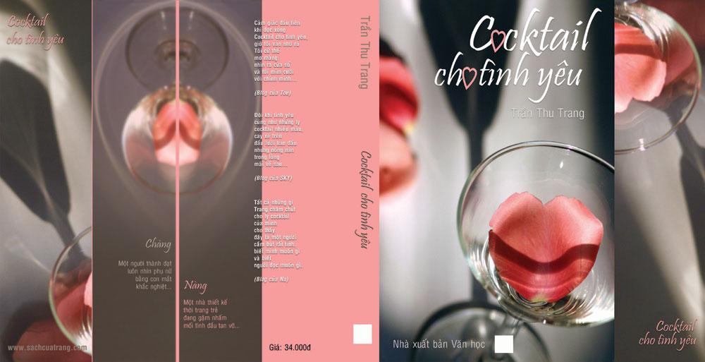 """Bìa """"Cocktail cho tình yêu"""" tái bản lần thứ 1 do Trần Thu Trang thiết kế"""