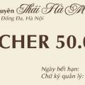 Phiếu quà tặng Cafe Trung Nguyên - Thái Hà Mới